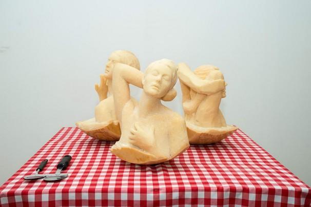 102Cheesy Sculpture_2013_parmesan cheese_40x40x23 cm each
