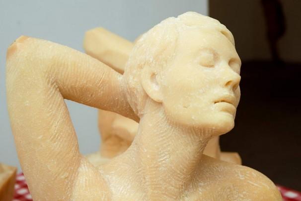 105Cheesy Sculpture (detail) _2013_parmesan cheese