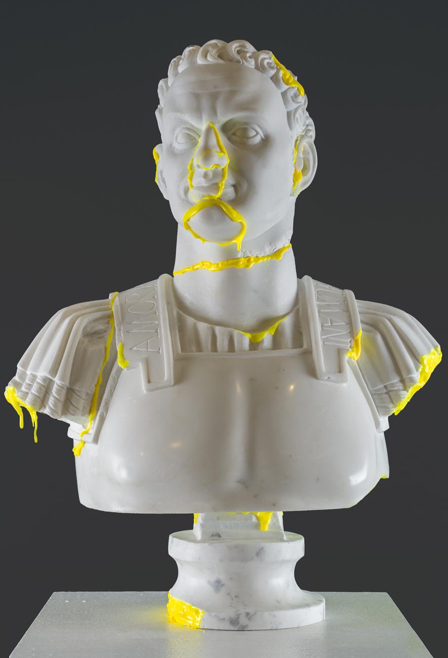 112Amor Ac Deliciae Generis Humani (Titus Flavius Vespasianus)_2013_Marble, polyurethane and phosphoric color_ 64x50x22 cm