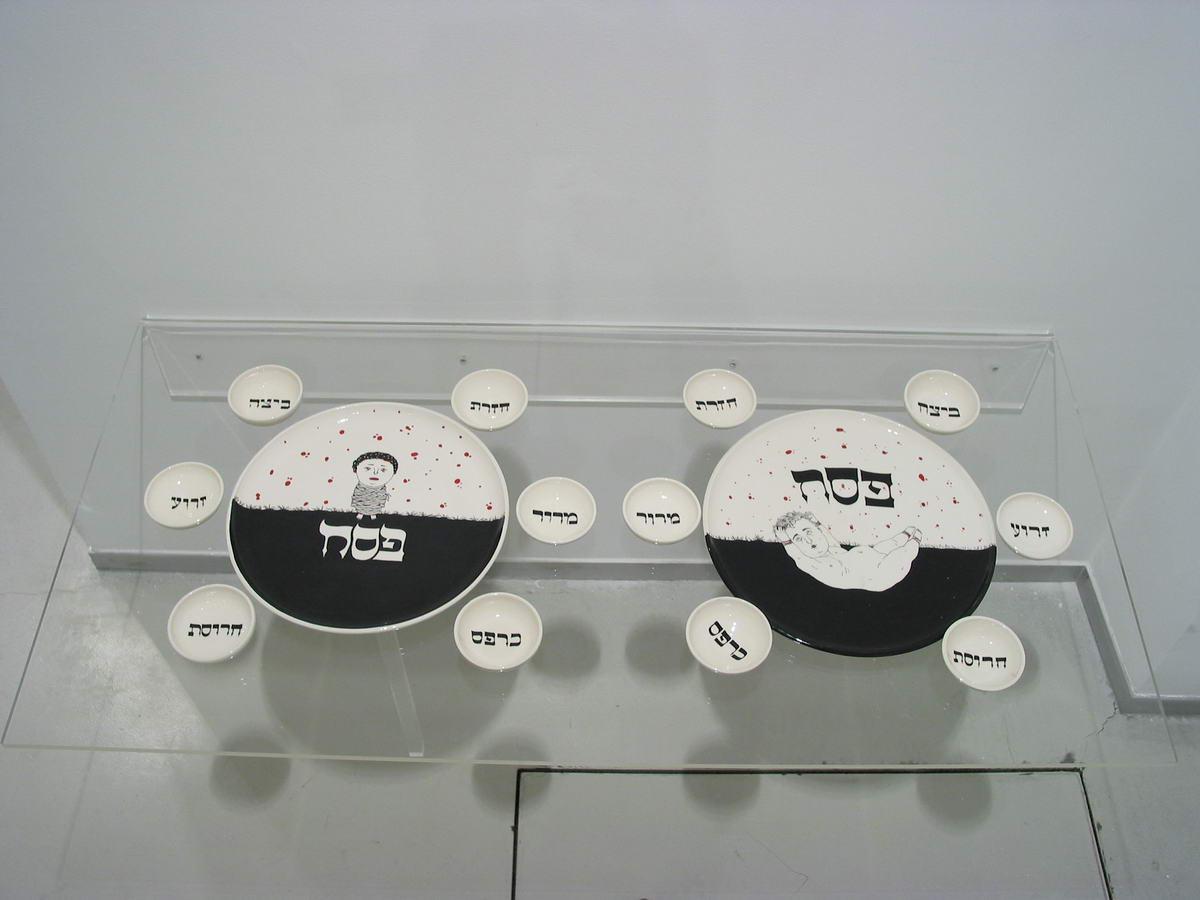 123PASSOVER PLATE_2002_ceramics_diameter 30cm
