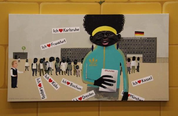 206Bitte Nicht Nach Hause Schicken_2009__acrylic on canvas_120x180 cm
