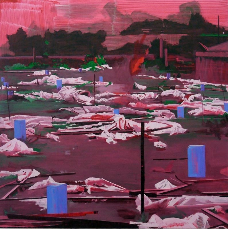 102Grennhouse_2011_oil on canvas_180x180 cm