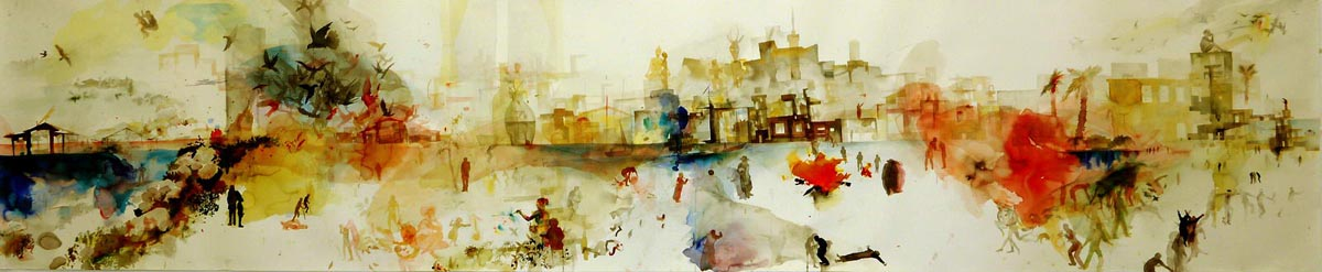 103Untitled_2010_ink and watercolor on paper_72x347 cm