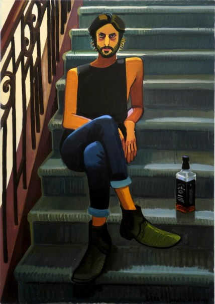 104Gera at stairway_2013_ oil on canvas_130x70 cm