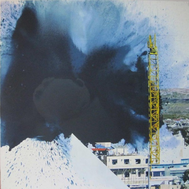 105Untitled (Blue)_2009_oil on canvas_180x180 cm