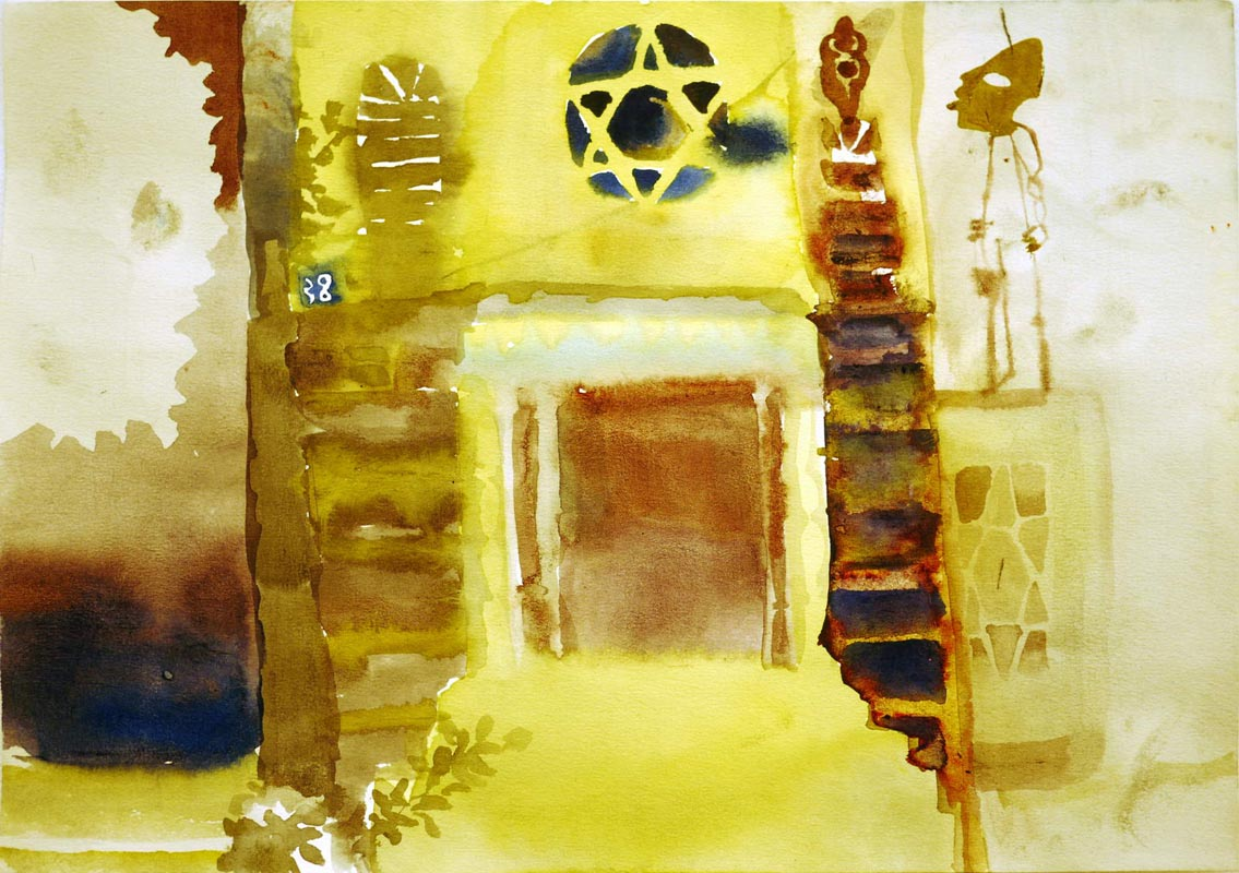 10638 Mesilat Yesharim_2010_ink and watercolor on paper_21x30 cm