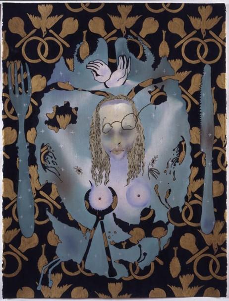 107Martyr Agatha 1_1992_oil on paper_76x58 cm