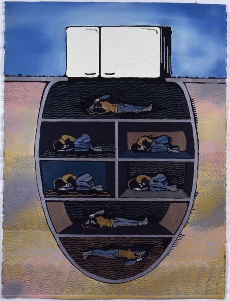 109Seven Sleeping Martyrs_1992_oil on paper_76x58 cm