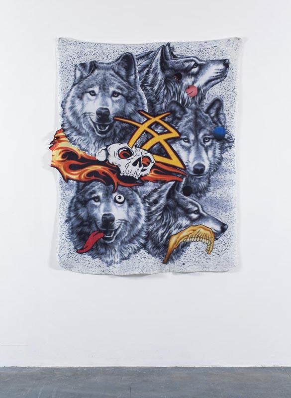110Wolf II_2009_Fabric Collage_153x125 cm