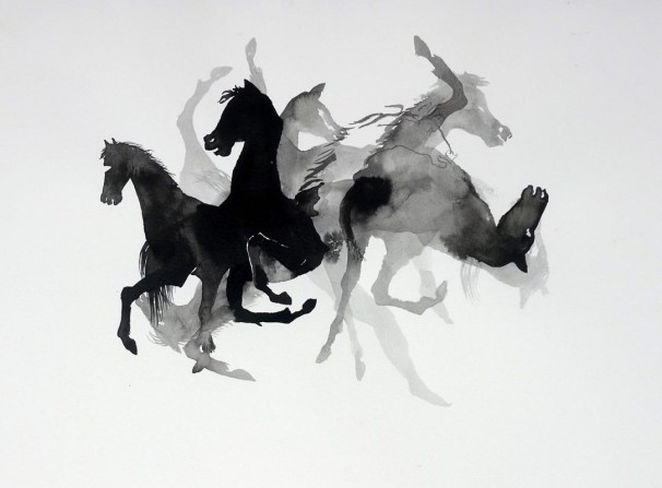 112Horses_2010_ink and watercolor on paper_21x30 cm