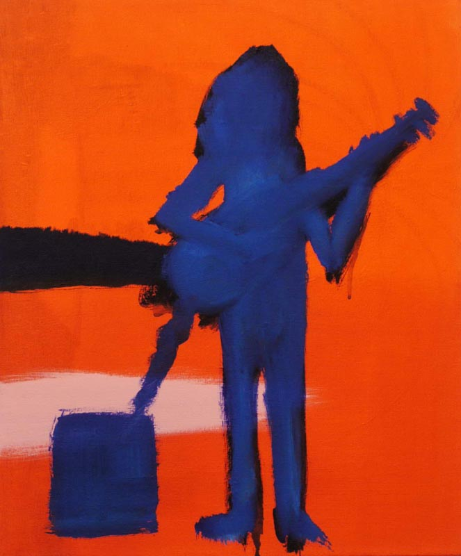 113Guitar on a Grave_2013_acrylic on canvas_60x50 cm