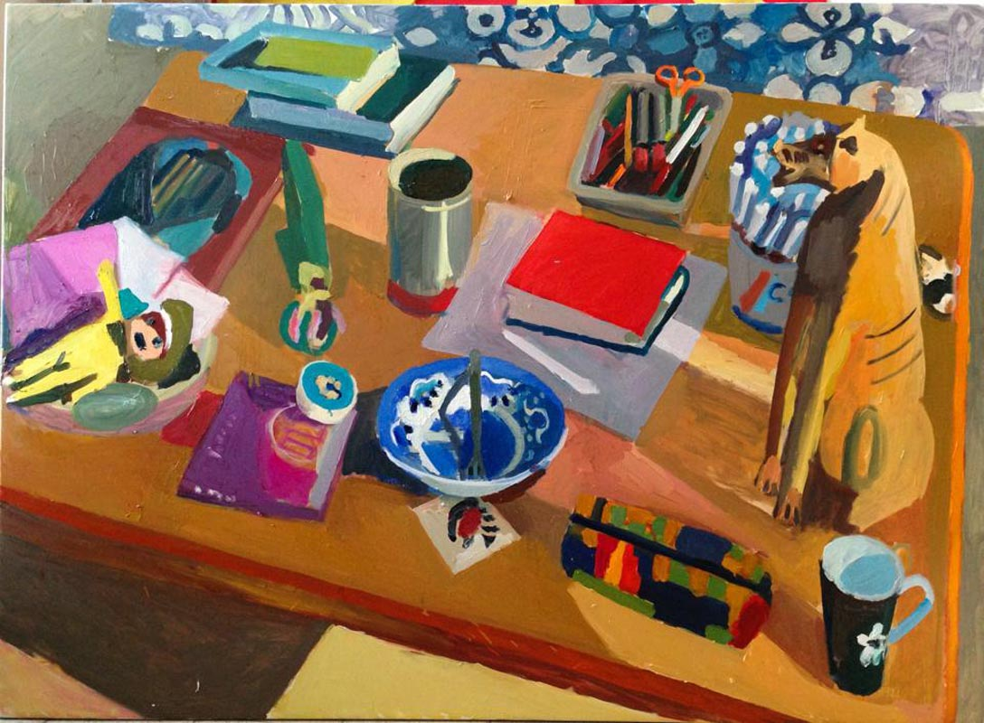 116Still life with a dish_2013_oil on canvas_100x137 cm.