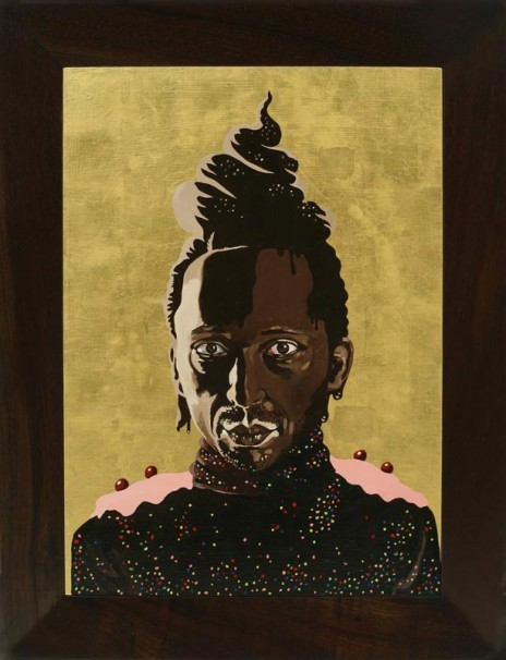 117Frosted Self Portrait # 1 (aka Saint Chocolate)_2006_Oil and Goldleaf on wood_70x50 cm
