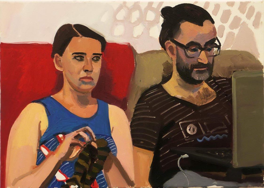 118Family (Olga Bozko& Ivan Avaliani)_2013_70x50cm_oil on canvas