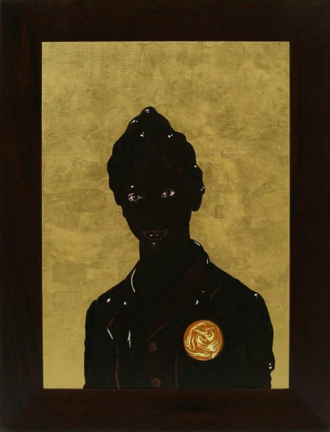 118Frosted Self Portrait # 2 (aka Saint Shit)_2006_Oil and Goldleaf on wood_70x50 cm