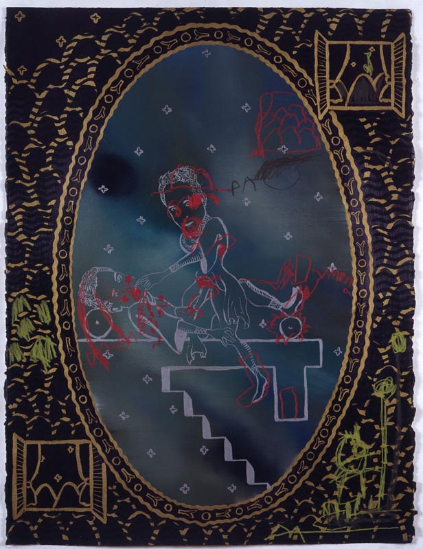 119Martyr Dympna_1993_oil on paper_76x58 cm