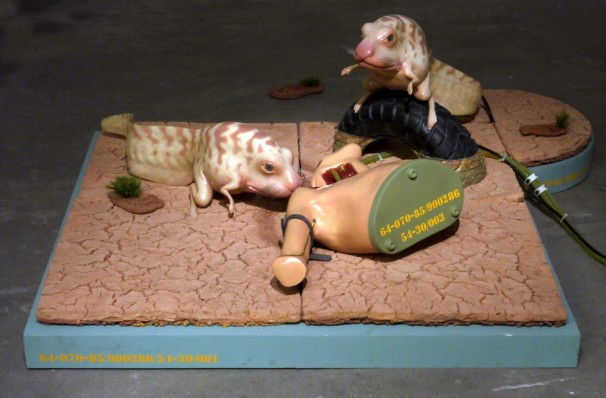 119The ballad of the futuristic battlefield _2013_mixed media, sculpted and cast in polymeric materials