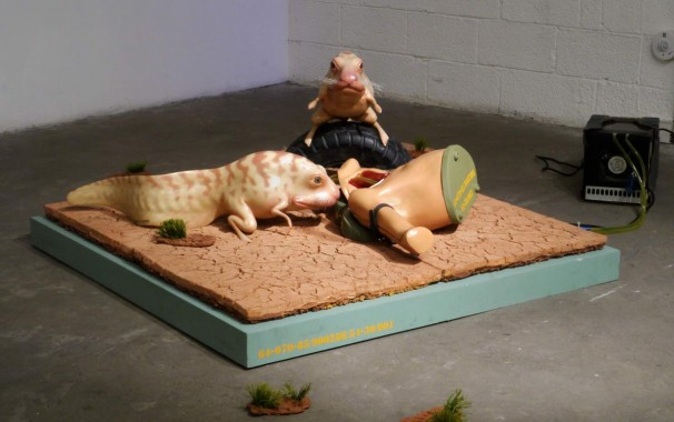 120The ballad of the futuristic battlefield _2013_mixed media, sculpted and cast in polymeric materials