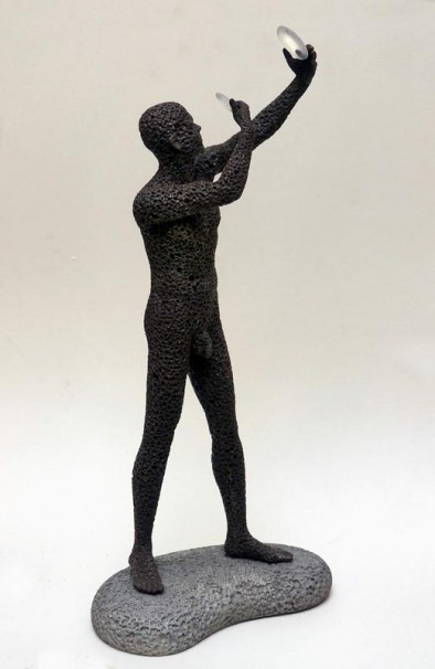 121The Lens Polisher (from Local Stone)_2012_mixed media, sculpted and cast in polymeric materials