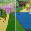 304Swimming Pool_2006-2009_acrylic on canvas (detail)