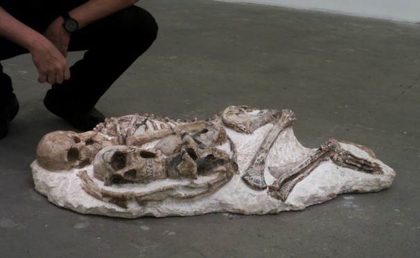 312Hominid Conglomerate (dream)_2012_limestone_120x60x22 cm
