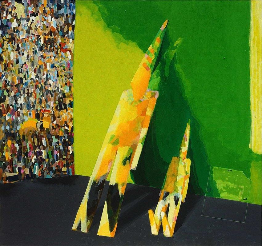 326Wise Fools_2011_acrylic on canvas_142x152 cm