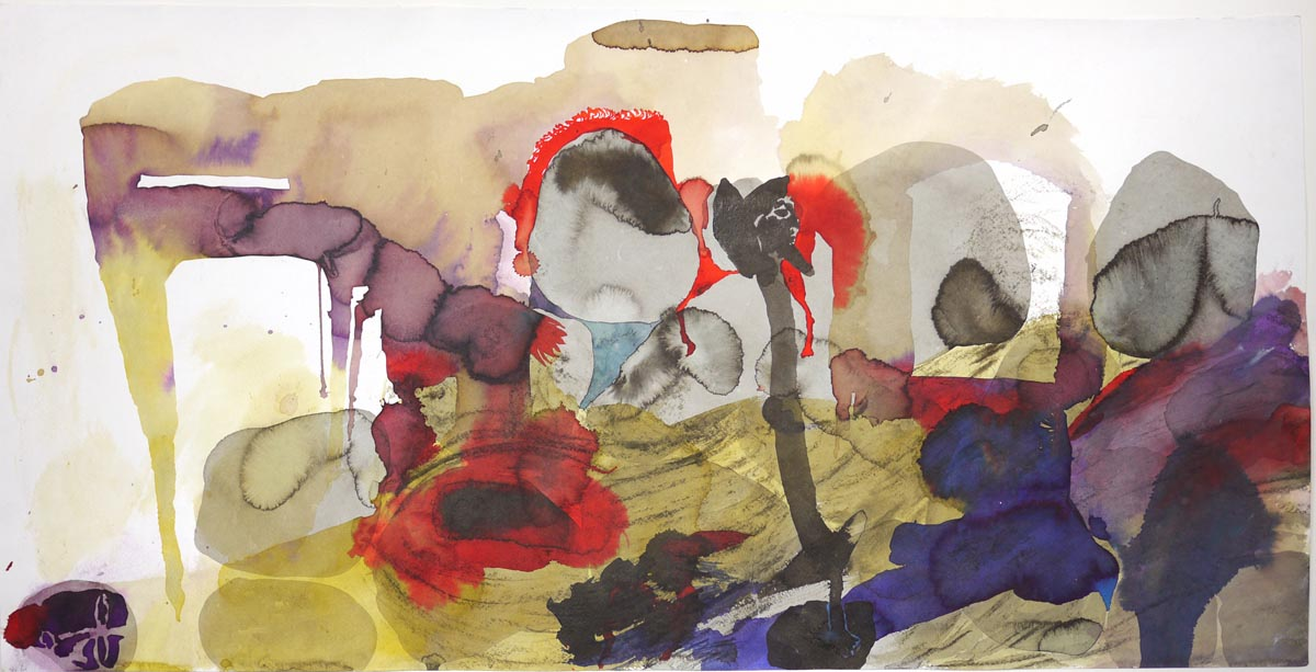 109Untitled_2015_Mixed technique on paper_55x104 cm