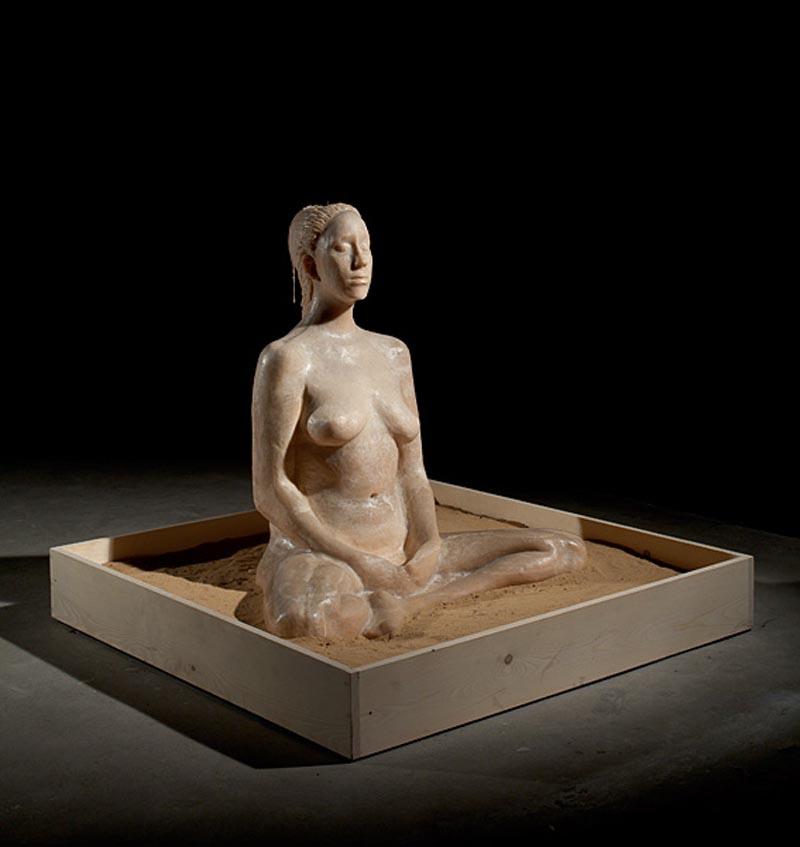 103Earth Lotus- Delusions_2009_wax sculpture_90x70x50 cm