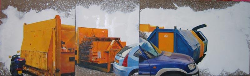 2009, 100x300 cm triptych