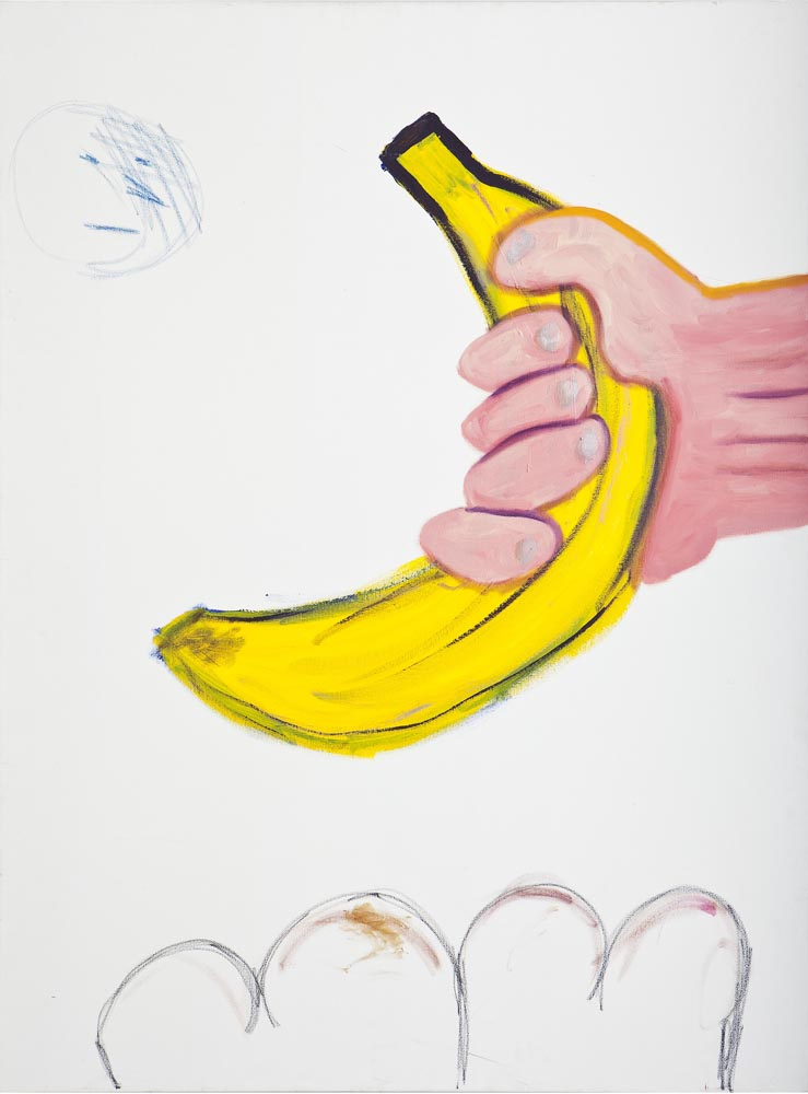 110Banana at Hand_mixed media on canvas_160X100 cm,