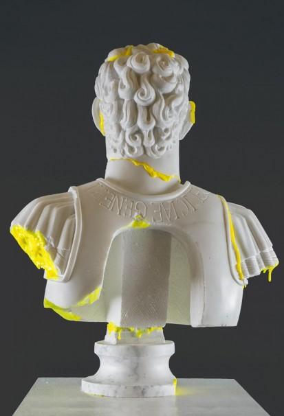 114Amor Ac Deliciae Generis Humani (Titus Flavius Vespasianus) _2013_marble, polyurethane and phosphoric color_64x50x22 cm