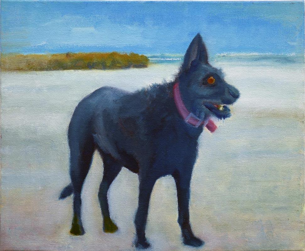162Kooka at Frishman Beach_2016_oil on canvas_25x30 cm