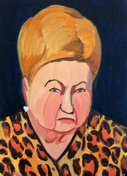 102 Woman head 1_2015_ oil on cardboard_35x45 cm