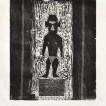 alex-kremer_african-statue_2011_woodcut_53x37-cm