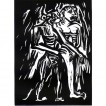 elad-larom_the-devil-probably_2016_linocut_38x28-5-cm