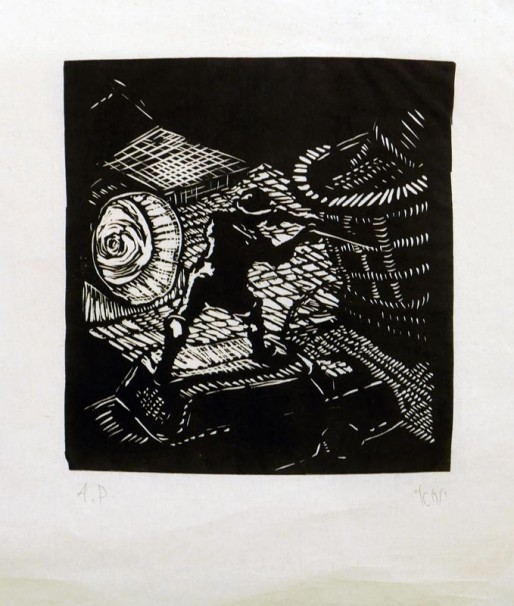 yochai-bar-on_soldier_2016_woodcut_20x19-cm