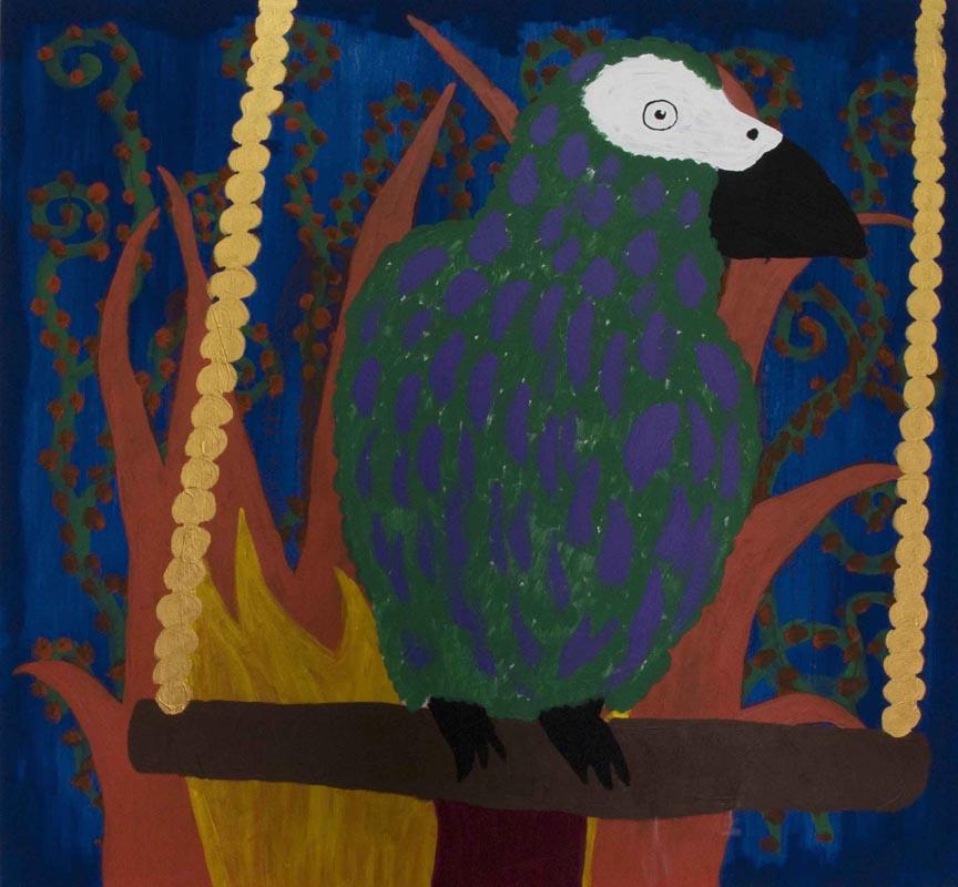 302Elad Rosen_Jacko_2010_acrylic on linen_160x160 cm