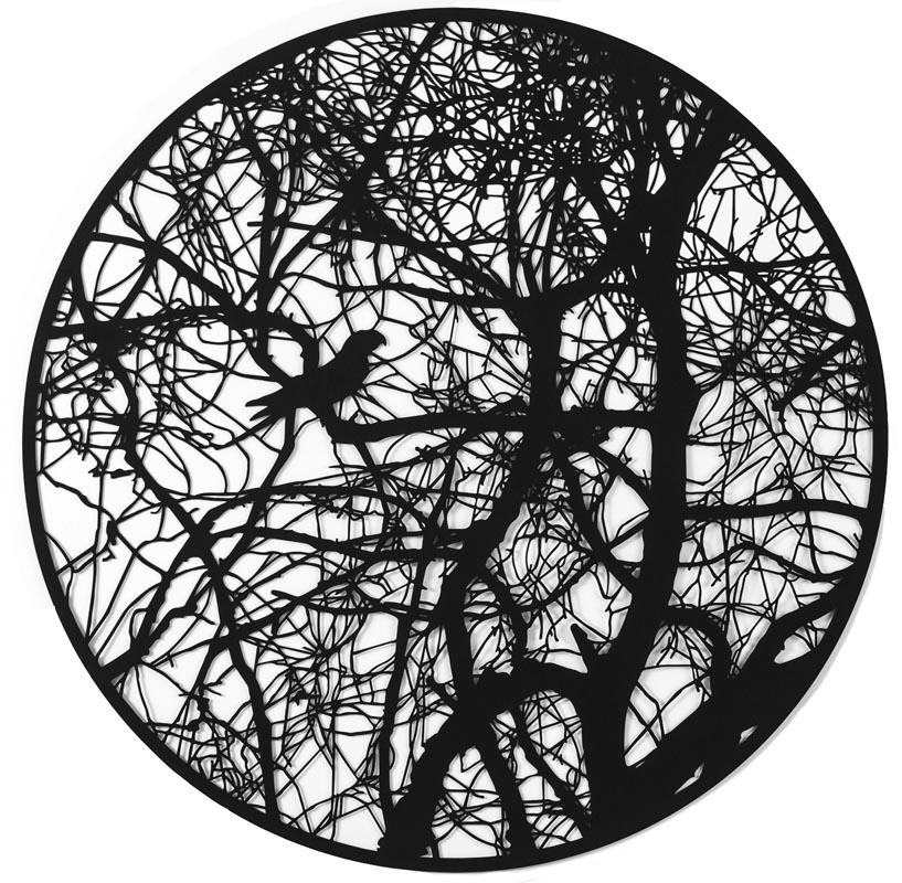 305Shira Glezerman_Carolina Parakeet (EX)_2017_Paper cutting_68 cm