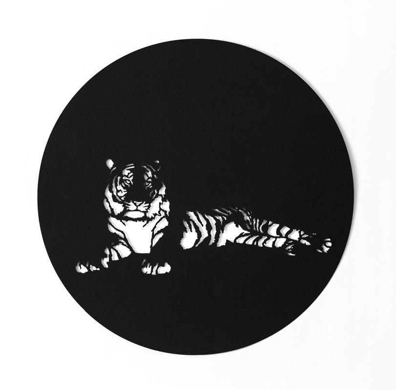 306Shira Glezerman_Java Tiger (EX)_2017_Paper cutting_ 30 cm