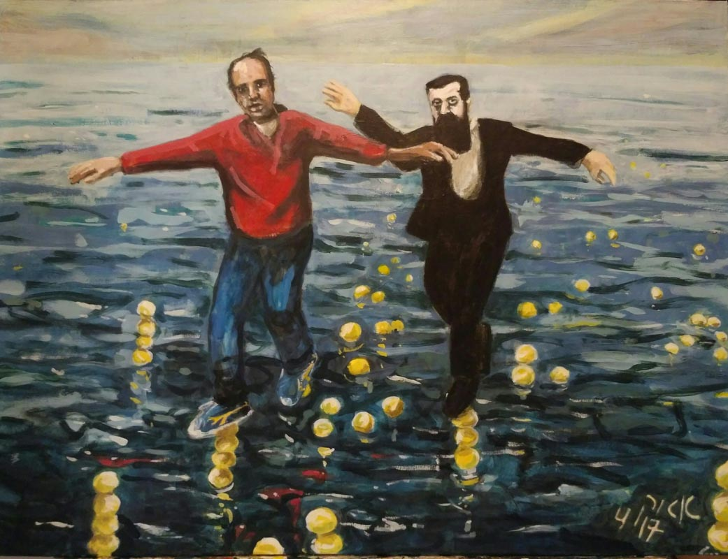 313Eyal Alder Kelner_Going on Lemons_2017_Tempera on linen_ 60x80 cm