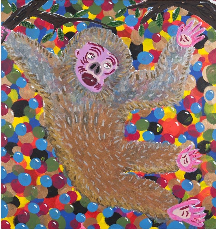 318Elad Rosen, Monkey, 2014, acrylic on canvas 160x170 cm, $4,300