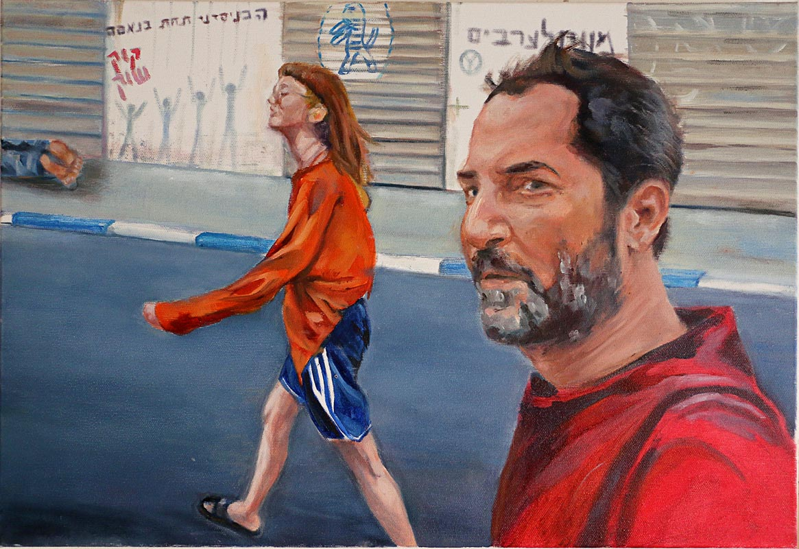 106Mizrahi Street_2017_Oil on canvas_41x60 cm