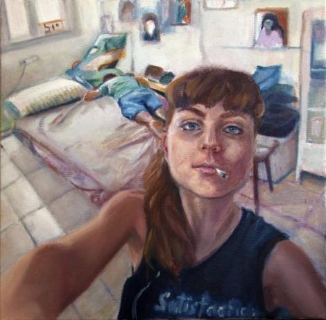 109Renovation_2017_Oil on canvas_30x30 cm