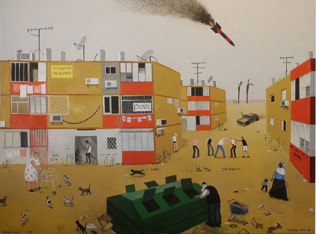 500 Friday in the Projects_2015_Oil on linen_200x270cm