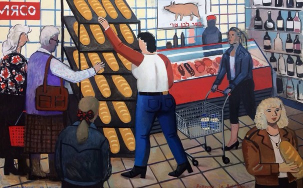 519Passover in Bat Yam_2016_Oil on linen_ 120x190 cm