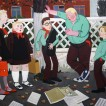 523School Mobbing_2014_ Oil on canvas, 100x130cm