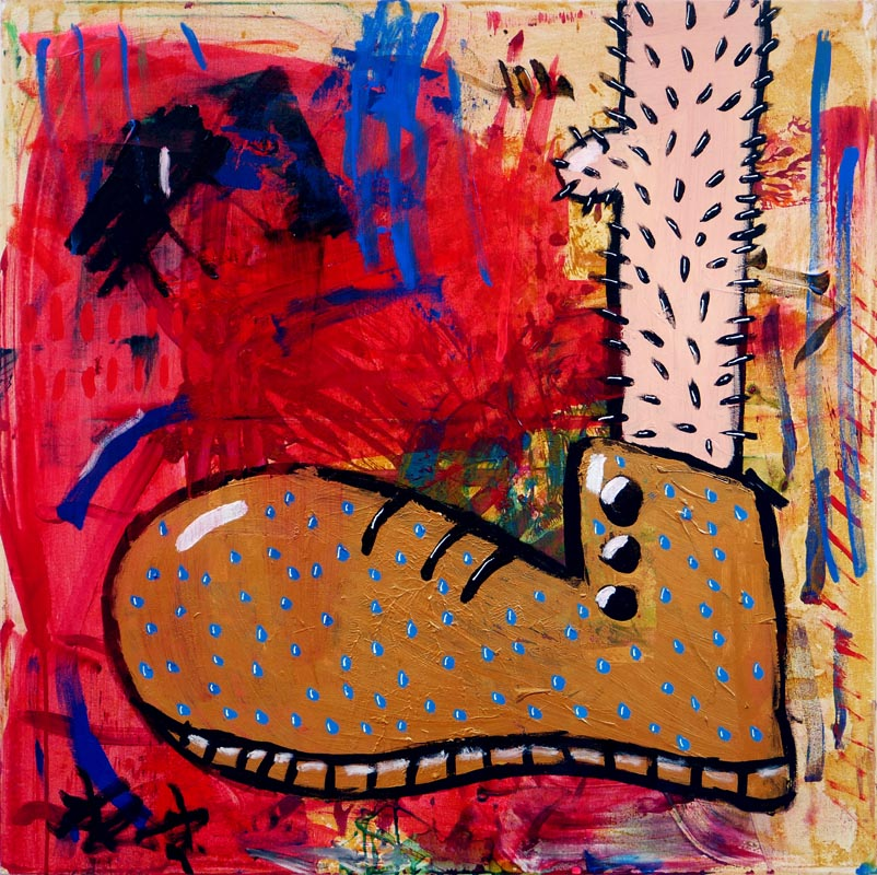 104Foot's Diptych_2018_Acrylich on canvas_100x100 cm