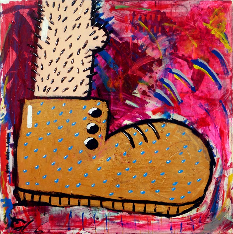 105Foot's Diptych_2018_ Acrylich on canvas_100x100 cm