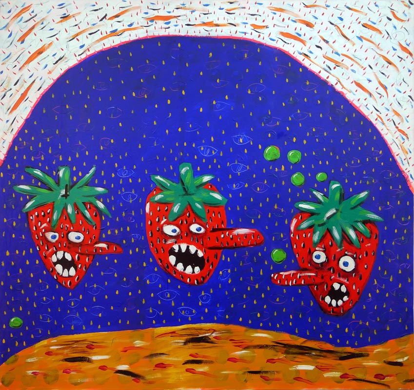 110Strawberry's Congress_2018_Acrylich on canvas_160x170 cm