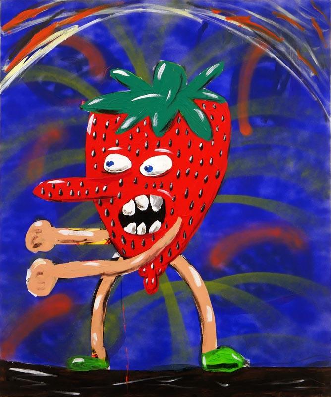112Strawberry's War, Diptych_ Acrylic on canvas_120x100 cm